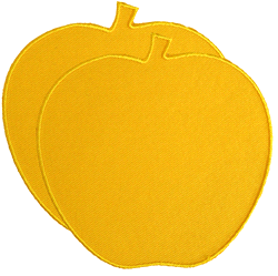 apple | opstrijkpatch Apple 8,5 x 8,5 cm (set van 2)