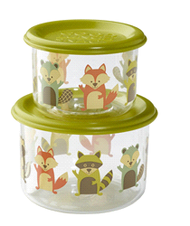 SBA1138 | Sugar Booger Snack Containers (set of 2) What did the Fox Eat