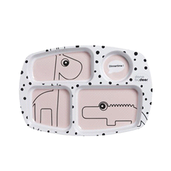 DD-10563 | DONE BY DEER compartiment plate Happy dots