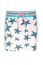 Y902-5730 | B.NOSY Girls sweat star/panther skirt