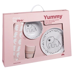 DD-10504 | DONE BY DEER dinner set happy dots