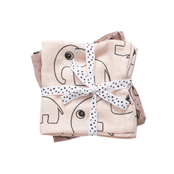 DD-30681 | DONE BY DEER burph cloth, 2-pack (70x70cm)