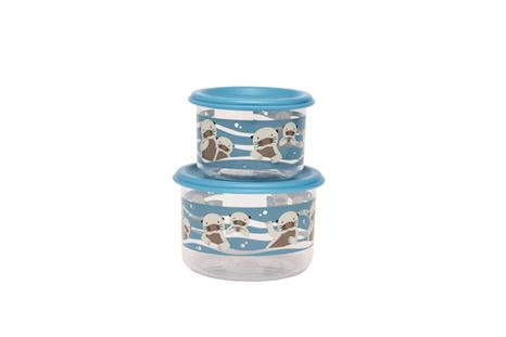 SBA1364 | Sugar Booger Snack Containers (set of 2) Baby Otter | 1